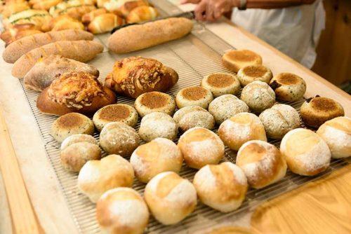 天然酵母パン陳列
